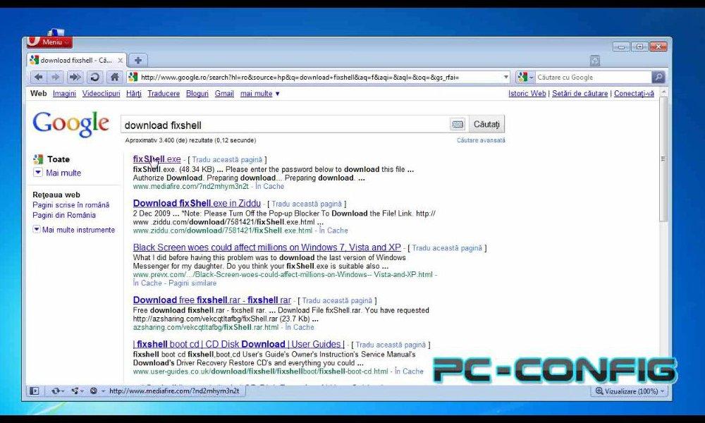 Cum scăpăm de eroarea din windows 7, Vista și XP care ne face desktop-ul negru?