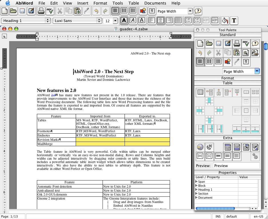 Abiword, un procesor de texte asemănător cu Microsoft Word