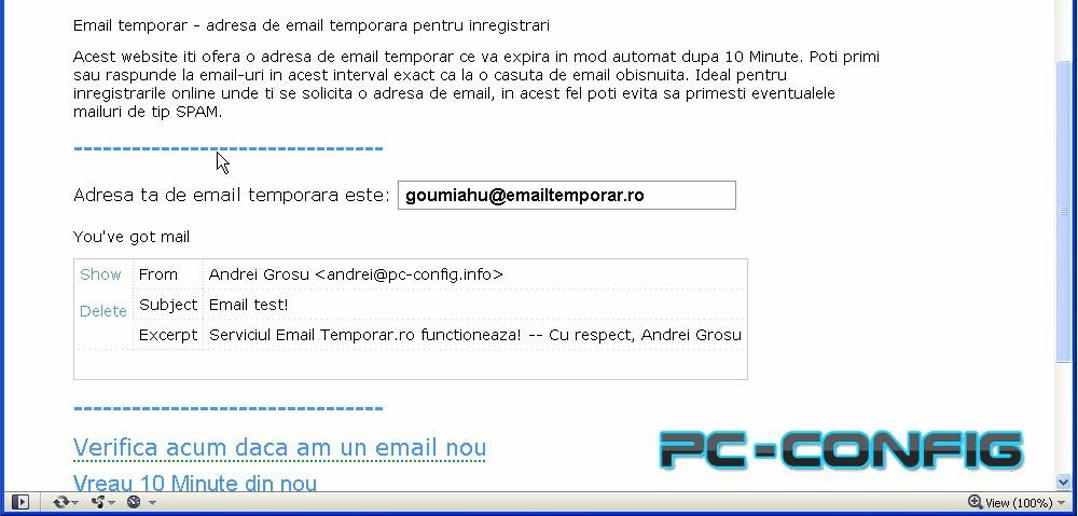 Cum putem crea un e-mail temporar