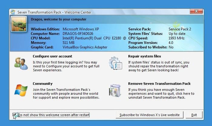 Descărcare și instalare Windows 7 Transformation Pack (VIDEO)