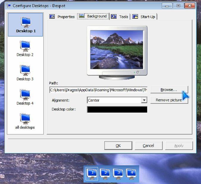Cum putem crea mai multe desktop-uri virtuale?