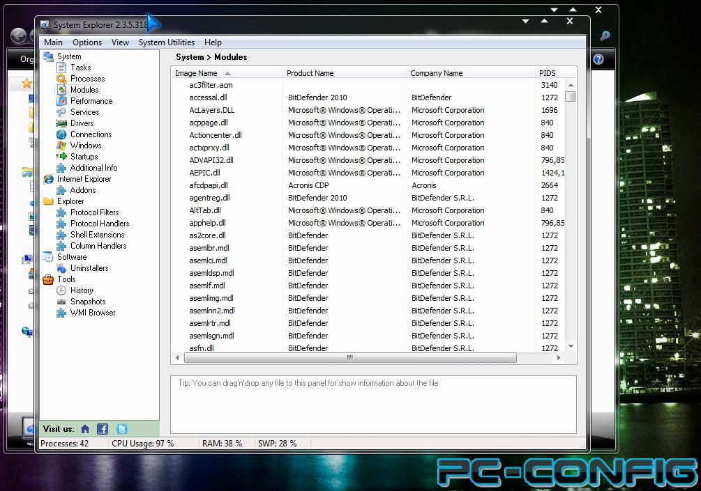 System Explorer, sau cum putem afla tot ce se întâmplă în PC?