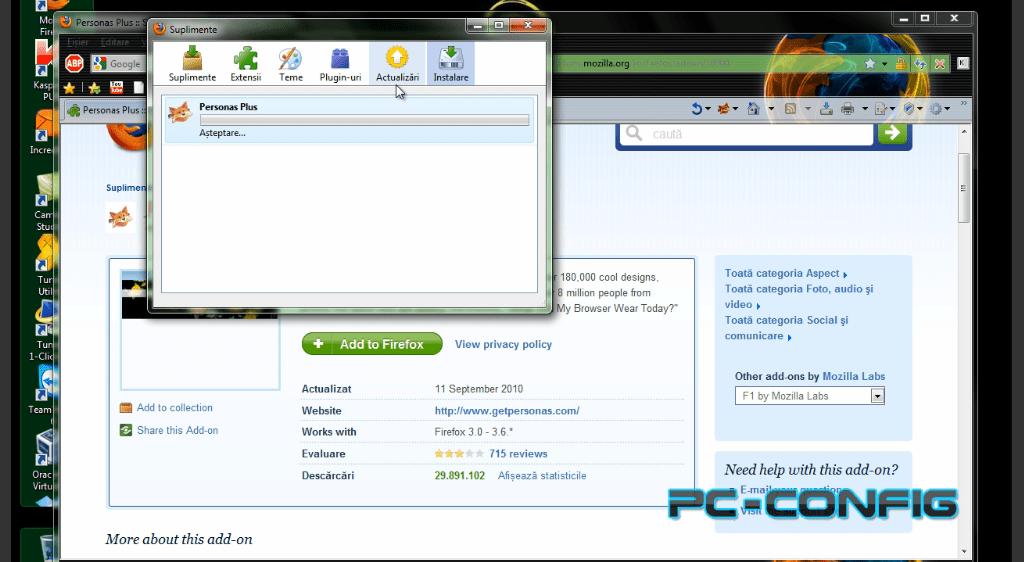 Customizarea browserului Mozilla Firefox