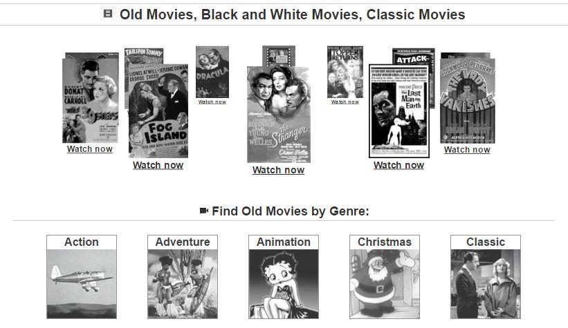 Filme vechi gratuite (vizionare și descărcare)