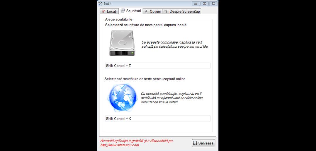 ScreenZap un soft deștept pentru capturile de ecran [update]