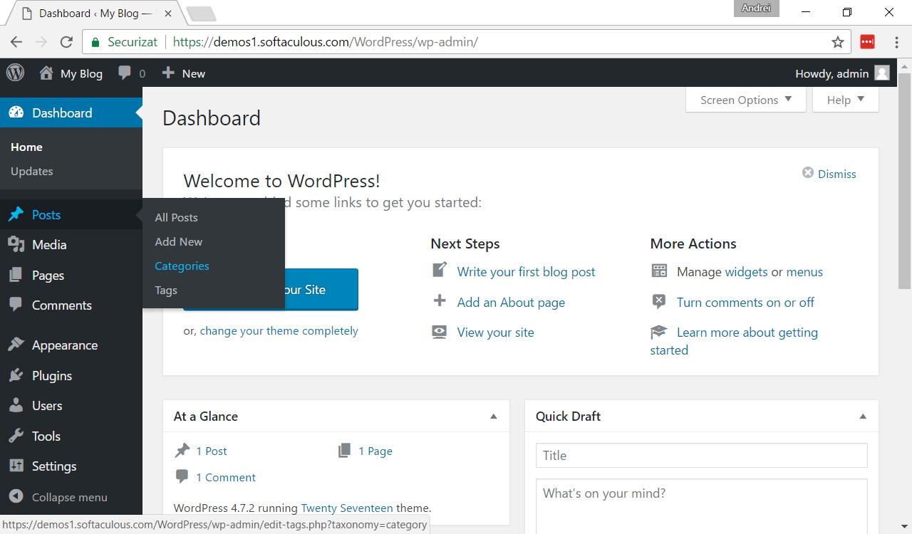 Cum se poate ascunde o categorie de pe pe prima pagină a unui site WordPress?