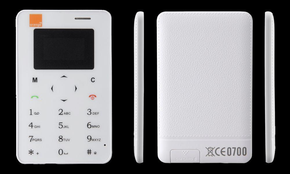 Telefon mobil de dimensiunile unui card bancar