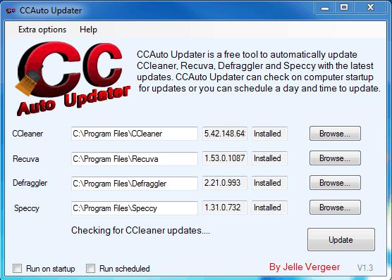 Actualizează simultan toate produsele Piriform cu CC Auto Updater