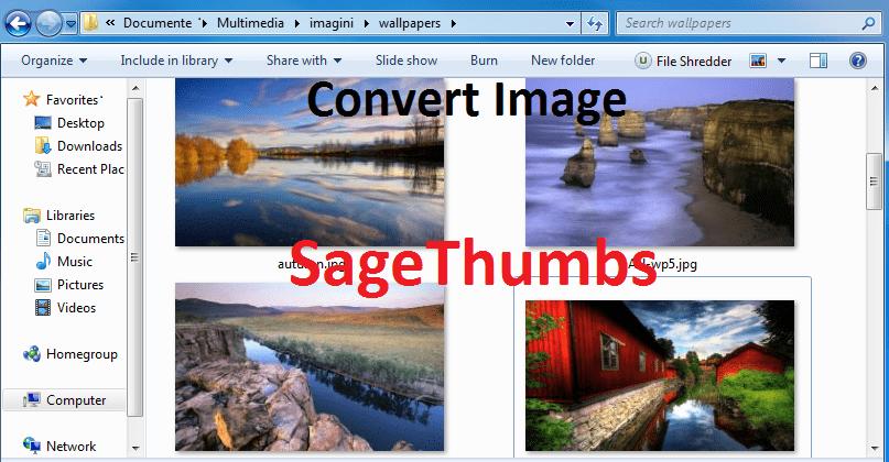 Previzualizarea și conversia imaginilor direct din meniul contextual cu SageThumbs