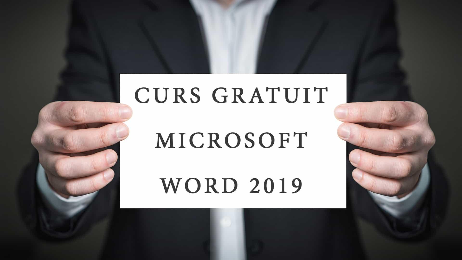 Curs gratuit Microsoft Word