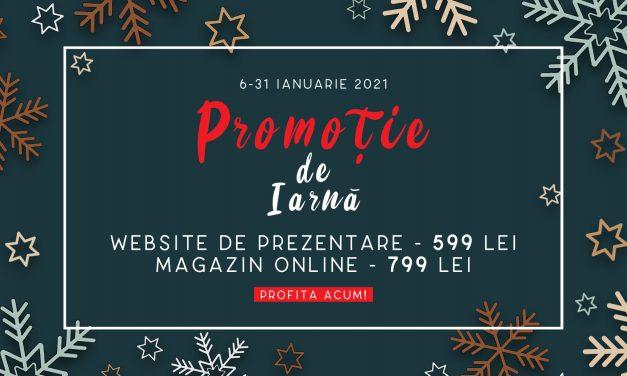 Promoție de iarnă – website de prezentare și magazin online