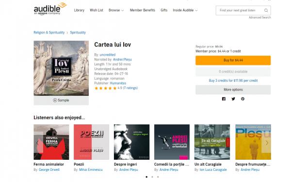Cum descărcăm gratuit audiobookuri de pe audible.com?