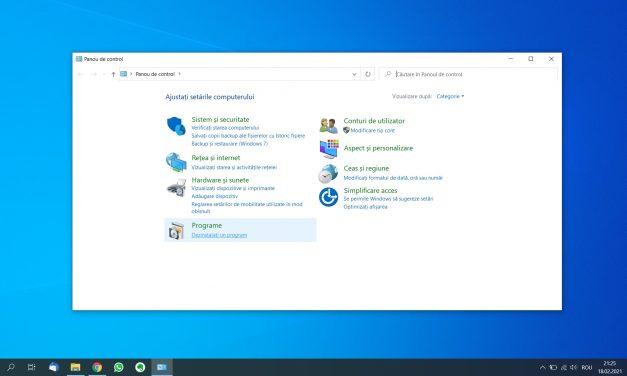 Cum pot șterge un program din calculator?